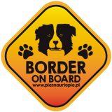 Naklejka na samochód z psem rasowym (border collie) idealna dla właściciela, który lubi podróżować z psem i dba o jego bezpieczeństwo. Na prezent dla miłośnika zwierząt czy jako gadżet dla wielbiciela psów.