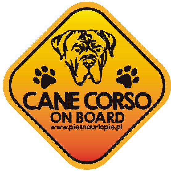 Naklejka na samochód z psem rasowym (cane corso) idealna dla właściciela, który lubi podróżować z psem i dba o jego bezpieczeństwo. Na prezent dla miłośnika zwierząt czy jako gadżet dla wielbiciela psów.