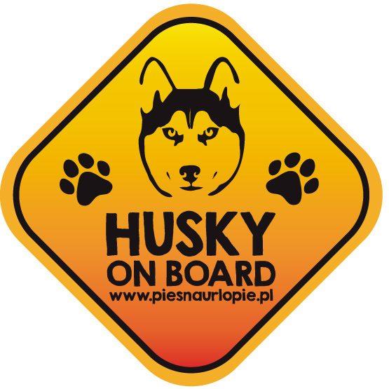 Naklejka na samochód z psem rasowym (husky) idealna dla właściciela, który lubi podróżować z psem i dba o jego bezpieczeństwo. Na prezent dla miłośnika zwierząt czy jako gadżet dla wielbiciela psów.