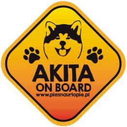 Naklejka na samochód z psem rasowym (akita inu) idealna dla właściciela, który lubi podróżować z psem i dba o jego bezpieczeństwo. Na prezent dla miłośnika zwierząt czy jako gadżet dla wielbiciela psów.