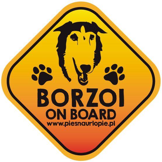 Naklejka na samochód z psem rasowym (borzoi) idealna dla właściciela, który lubi podróżować z psem i dba o jego bezpieczeństwo. Na prezent dla miłośnika zwierząt czy jako gadżet dla wielbiciela psów.