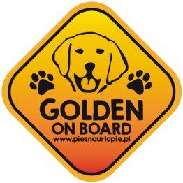 Naklejka na samochód z psem rasowym (golden retriever) idealna dla właściciela, który lubi podróżować z psem i dba o jego bezpieczeństwo. Na prezent dla miłośnika zwierząt czy jako gadżet dla wielbiciela psów.