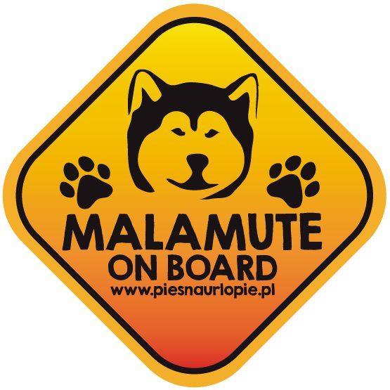 Naklejka na samochód z psem rasowym (alaskan malamute) idealna dla właściciela, który lubi podróżować z psem i dba o jego bezpieczeństwo. Na prezent dla miłośnika zwierząt czy jako gadżet dla wielbiciela psów.