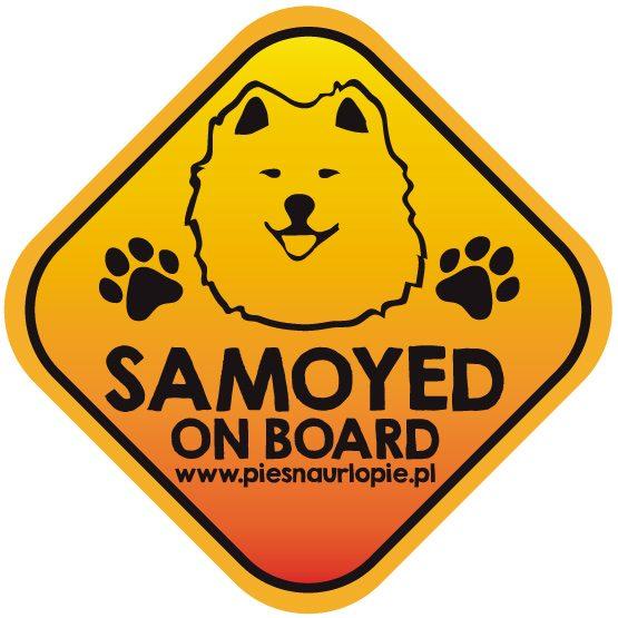 Naklejka na samochód z psem rasowym (samoyed) idealna dla właściciela, który lubi podróżować z psem i dba o jego bezpieczeństwo. Na prezent dla miłośnika zwierząt czy jako gadżet dla wielbiciela psów.