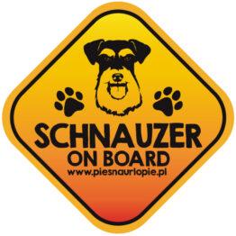 Naklejka na samochód z psem rasowym (sznaucer) idealna dla właściciela, który lubi podróżować z psem i dba o jego bezpieczeństwo. Na prezent dla miłośnika zwierząt czy jako gadżet dla wielbiciela psów.