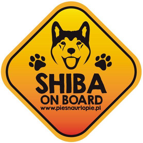 Naklejka na samochód z psem rasowym (shiba inu) idealna dla właściciela, który lubi podróżować z psem i dba o jego bezpieczeństwo. Na prezent dla miłośnika zwierząt czy jako gadżet dla wielbiciela psów.