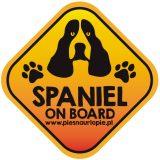 Naklejka na samochód z psem rasowym (spaniel) idealna dla właściciela, który lubi podróżować z psem i dba o jego bezpieczeństwo. Na prezent dla miłośnika zwierząt czy jako gadżet dla wielbiciela psów.