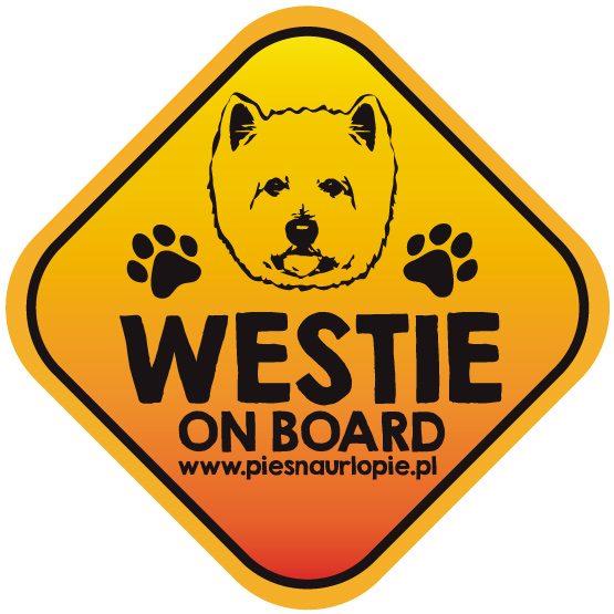 Naklejka na samochód z psem rasowym (west highland terrier) idealna dla właściciela, który lubi podróżować z psem i dba o jego bezpieczeństwo. Na prezent dla miłośnika zwierząt czy jako gadżet dla wielbiciela psów.