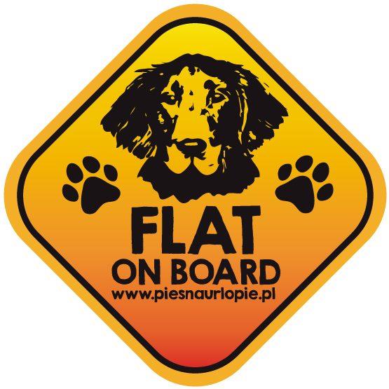 Naklejka na samochód z psem rasowym (flat coated retriever) idealna dla właściciela, który lubi podróżować z psem i dba o jego bezpieczeństwo. Na prezent dla miłośnika zwierząt czy jako gadżet dla wielbiciela psów.