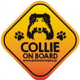 Naklejka na samochód z psem rasowym (owczarek szkocki długowłosy collie) idealna dla właściciela; który lubi podróżować z psem i dba o jego bezpieczeństwo. Na prezent dla miłośnika zwierząt czy jako gadżet dla wielbiciela psów.