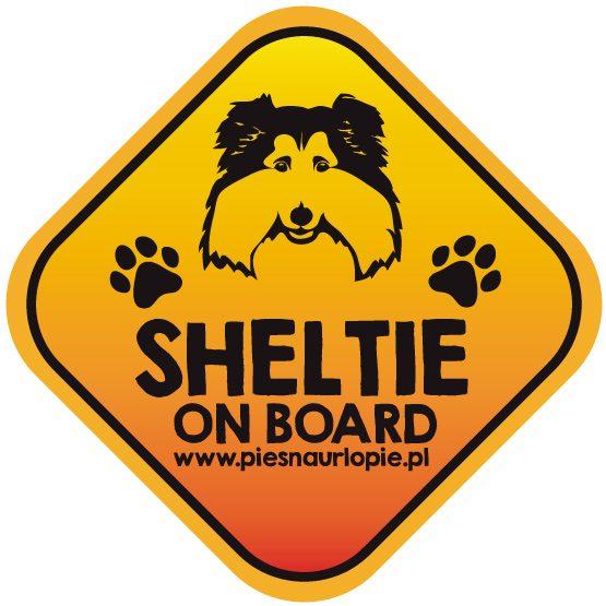Naklejka na samochód z psem rasowym (owczarek szetlandzki sheltie) idealna dla właściciela; który lubi podróżować z psem i dba o jego bezpieczeństwo. Na prezent dla miłośnika zwierząt czy jako gadżet dla wielbiciela psów.