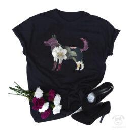 Koszulka z kundelkiem całym w kwiatach